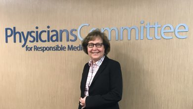 Betty Mizek at Physicians Committee for Responsible Medicine where she learned about plant-based diet that has so improved her health